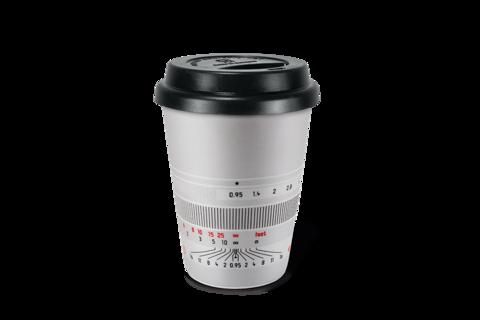 """银色""""Noctilux-M 50""""咖啡杯"""