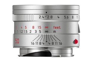SUMMARIT-M 50 mm/F2.4 SILVER ANODIZED FINISH